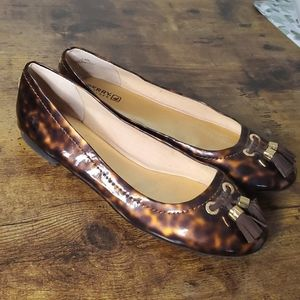 Sperry Bliss Patent Tortoise Shell Flats
